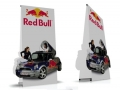 two sided banner stands