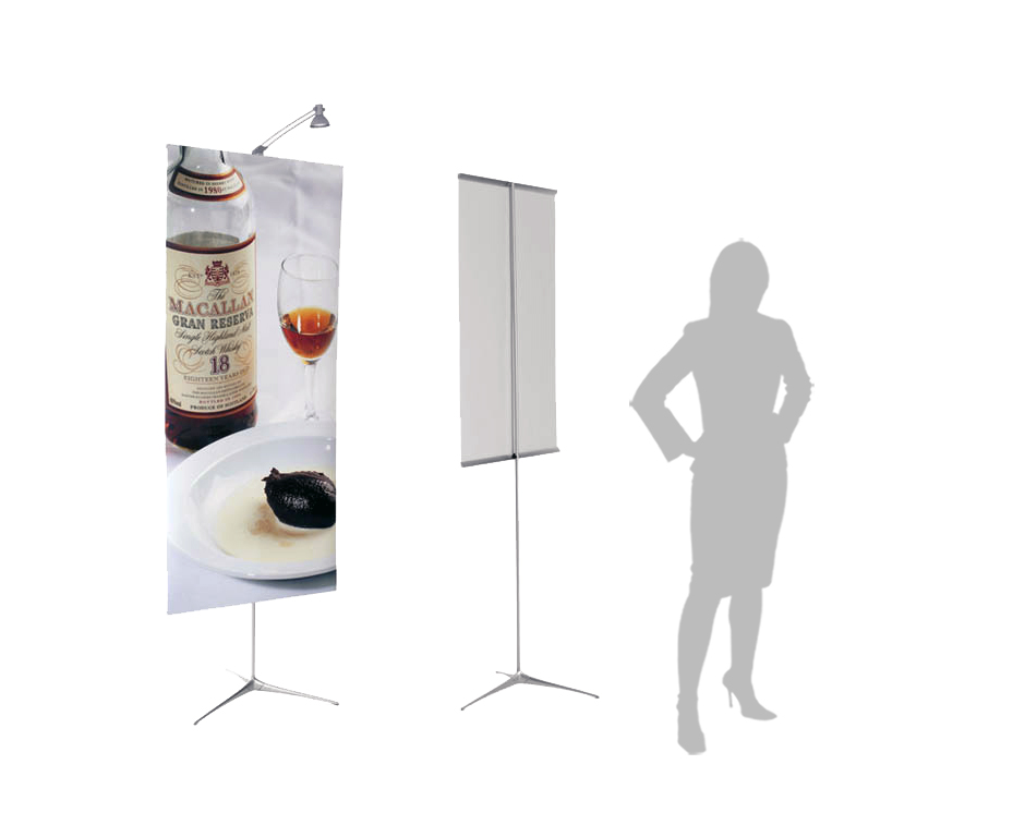 lighted banner stands